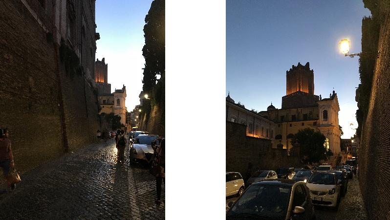 ローマの夕方